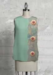 Seafoam green, ladies wear sleeveless top What a beautiful product!
