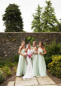 ♡ Mint Green #wedding #Bridesmaids Dresses ... For wedding ideas, plus how to organise an entire wedding, within any budget ... https://itunes.apple.com/us/app/the-gold-wedding-planner/id498112599?ls=1=8 ♥ THE GOLD WEDDING PLANNER iPhone App ♥  For more wedding inspiration http://pinterest.com/groomsandbrides/boards/ photo pinned with love & light, to help you plan your wedding easily ♡