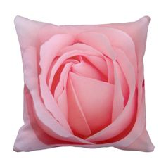 Dreamy Rose Throw Pillow by www.zazzle.com/htgraphicdesigner* #zazzle #pillow #cushion #rose #gift #giftidea #pink