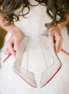 Beaded Christian Louboutin Bridal Shoes | photography by http://www.justindemutiisphotography.com