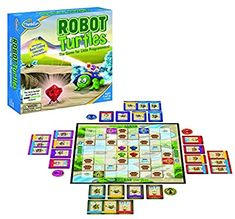 ThinkFun Robot Turtles STEM Toy and Coding Board Game for Preschoolers - Made Famous on Kickstarter, Teaches Programming Principles to Preschoolers Robot Games For Kids, Preschool Board Games, Fun Board Games, Preschool Toys, Teaching Kids To Code, Turtle Games, Best Family Board Games, Family Games, Game Programming