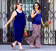 Celebrity bump watch: Mila Kunis hangs with Ashton Kutcher's #pregnant sister.