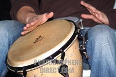 Basso bosa nova Brazilian musician conga drummer drum Brazil  - Cd player under booth playing Bosa Nova music. Remember to request from library