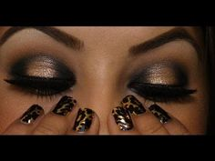 Smokey Eye With a Pop Of Gold