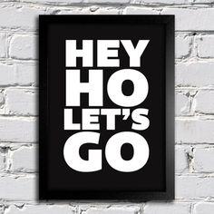 Poster Ramones Hey Ho Lets Go II na internet