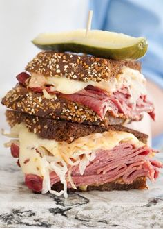 Grilled Reuben with Homemade Thousand Island Dressing