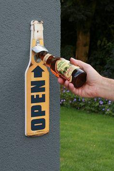 """Casablanca Design Wand-Flaschenöffner """"Bierflasche"""" Höhe 40 cm · Breite 10,5 cm"""