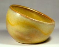 Frankoma Pottery Asymmetrical Bowl  No. 233 Desert Gold