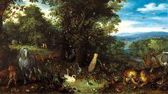 ***Jan Brueghel, El Paraíso terrenal, 1612. Roma, Galería Doria Pamphili.