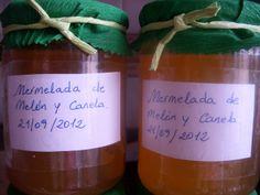 la cocina de valenciana: MERMELADA DE MELÓN Y CANELA Chutney, Jam Recipes, Spanish Food, Preserves, Ice Cream, Canning, Fruit, Bottle, Juices