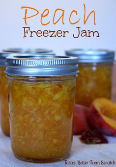 Peach Freezer Jam | Tastes Better From Scratch