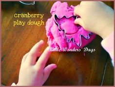 Cranberry play doh