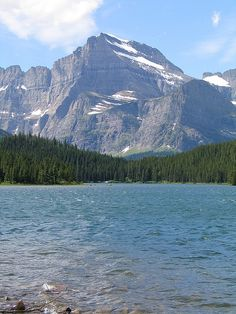 Waterfalls Glacier National Park | Swiftcurrent Lake in Glacier National…