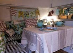 Quilted Nest Blog: A Vintage Camper Mom Cave...(belonging to Denise of The Painted Home)