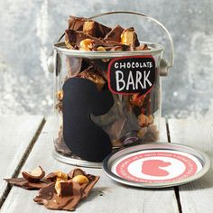 Dark Chocolate Candy Bark--A candy-lover will chow down on this rich chocolate bark. Customize the recipe for your loved one by using their favorite candy bar in the filling.