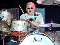 O baterista da banda Deep Purple, Ian Paice, durante show em Las Vegas, EUA