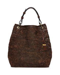 e6f78745bbe9 Santorini Large Raffia Shoulder Bag
