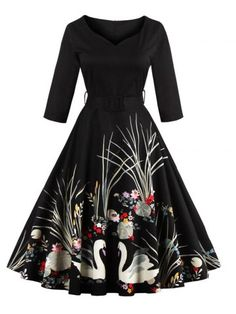 GET $50 NOW | Join RoseGal: Get YOUR $50 NOW!http://www.rosegal.com/vintage-dresses/vintage-printed-belted-high-waist-826596.html?seid=7670613rg826596