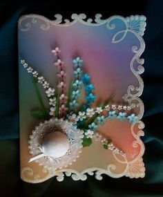 A delightful any occasion card, with a summer hat, sprays of 3-D flowers, and a…