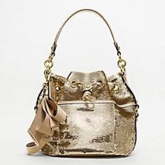 Coach Gold Sequin Handbag Will Upload Personal Pictures Soon In Good Condition Very Adorable