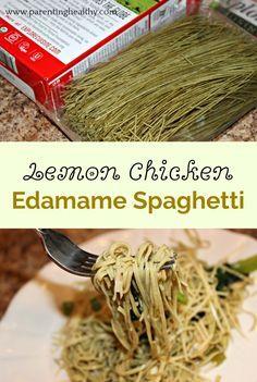 Lemon Chicken Edamame Spaghetti Recipe Edamame Spaghetti