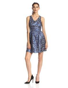 Nubbly Lurex Jacquard Dress by kensie