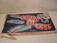 Vintage Board Game Calling All Cars Metal Cars by bluejeanjulie