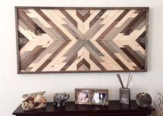 Reclaimed Wood Wall Art, Wood Art, Wall Decor, Wood Decor, Rustic Wood Decor,  Farmhouse Decor, Aztec Decor