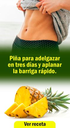 piani piani per perdere peso ricette adelgazar d … Healthy Juices, Healthy Drinks, Healthy Tips, Pineapple Delight, Regenerative Medicine, Lose Weight, Weight Loss, Calories, Health Motivation