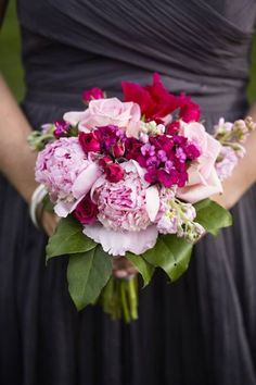 Pink and Raspberry bouquets