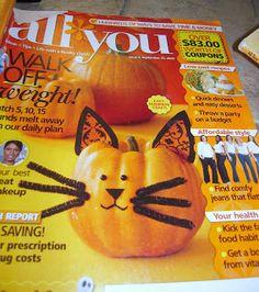 La-La's Home Daycare: Kitty Cat Pumpkins