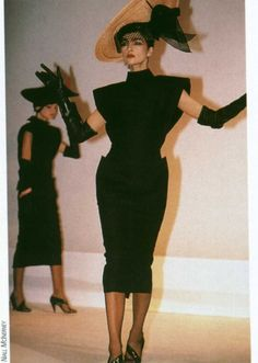 Early 80s Claude Montana--CLAIRE ATKINSON WAS A FABULOUS BRIT MODEL, MUCH IN DEMAND FOR DESIGNERS SHOWS!