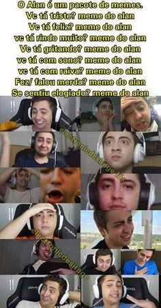 Alan o Salvador Youtubers, Youtube Memes, Little Memes, Beer Humor, Internet Memes, Bad Mood, Be A Nice Human, Just Smile, Funny Love