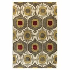 Create a beautiful focal point in your living room, foyer, or den with this hand-tufted wool rug, showcasing a geometric sunburst motif and subdued earth tones.   Product: RugConstruction Material: 100% WoolColor: MochaFeatures: Hand-tufted Note: Please be aware that actual colors may vary from those shown on your screen. Accent rugs may also not show the entire pattern that the corresponding area rugs have.Cleaning and Care: Spot clean and vacuum regularly