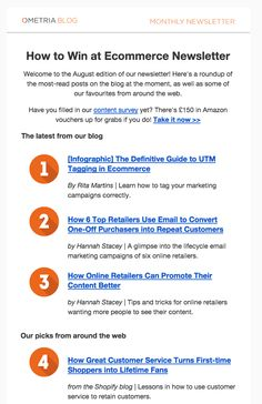 List-style email format from Ometria.