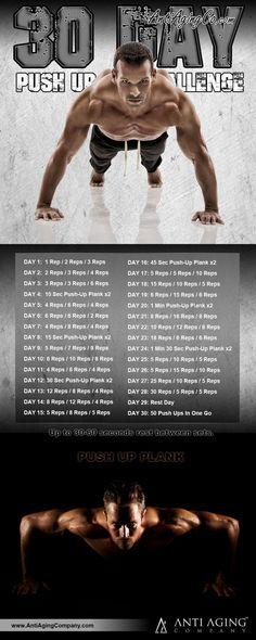 30-Day Push Up Challenge