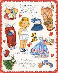 Valentine Nancy Ann, paper doll