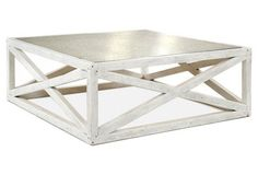 Manning Square Coffee Table, White