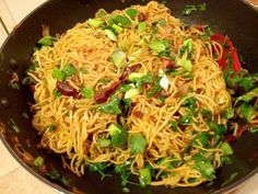 Asian Style Shallot and Garlic Pan Fried Noodles