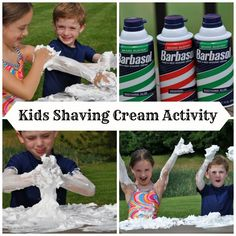 Shaving Cream Activity for Kids ClassyMommy.com