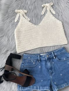 Most popular and Amazing Crochet Top Pattern Ideas of 2019 and 2020 - Page 48 of 55 - lasdiest.c Crochet Summer May Tank Top (Free Pattern) - KnitcroAddict Crochet Tank Tops, Crochet Summer Tops, Crochet Shirt, Knitted Tank Top, Crochet Cardigan, Crochet Clothes, Diy Clothes, Crochet Top Outfit, Clothes Refashion