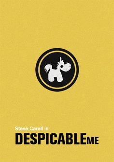 "despicable me minimal poster ""It's so fluffy!!!"""