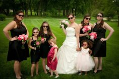 Bridal party bouquets by Cindy Platt. Brackett & Company floral designs