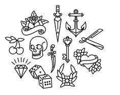 Resultado de imagen para heart tattoo old school small