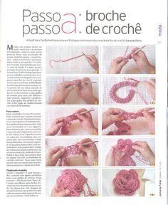 rosa a crochet paso a paso « Mis tejidos palillo y crochet y algo mas\u2026