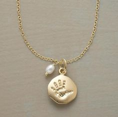 PERSONALLY YOURS BIRTHSTONE HANDPRINT NECKLACE     Love this for a push gift! And you can add stones for future kiddos!