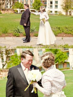 """Have a """"first look"""" with your dad on your wedding day! 