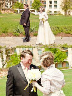 """Have a """"first look"""" with your dad! Des idées pour être sentimentale à votre mariage."""