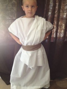 Greek Toga Boy Costume  sc 1 st  Pinterest & Simple togas-- are improved by gold cording for belt embellishment ...