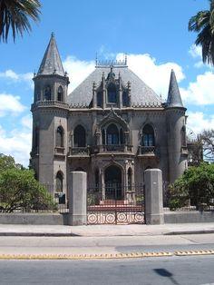 Castillo Soneira, Av. Suárez, a pocos metros de Av, L.A. de Herrera y Av. Millán. Señorial vivienda construida en 1861.  Declarado Monumento Histórico Nacional  Prado, Montevideo, Uruguay.